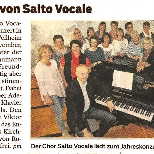 Chorkonzert von Salto Vocale